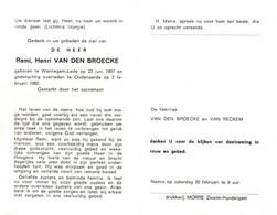 Remi Henri Van Den Broecke (1897-1982) - Devotion Images