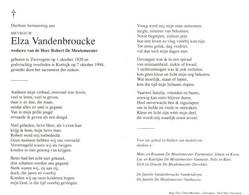 Elza Vandenbroucke (1920-1994) - Devotion Images