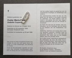 ZUSTER MARIE-PAULE ISABELLA CUYPERS ° KINROOI 1912 + LIEDEKERKE 1990 / KINDSHEID JESU - Devotion Images