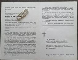 FRANS VAN TORRE ° HEIST 1887 + KNOKKE-HEIST 1977  / ROMANIE BLOMMAERT - Devotion Images