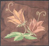 Jelzés Nélkül: Ornamentika (3db) Akvarell, Papír, 20x20 és 21x29 Cm - Sin Clasificación