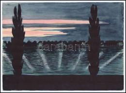 Jelzés Nélkül: Duna Komáromnál Akvarell, Papír, 21x28cm - Sin Clasificación