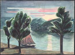 Jelzés Nélkül: Tájkép (3db) Akvarell, Papír, 21x28, 29x21, 30x21 Cm - Sin Clasificación