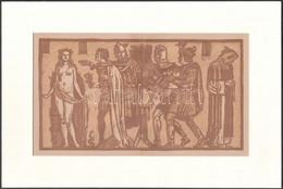 Jelzés Nélkül: Jelenet. Linó, Papír, Paszpartuban, 14×26 Cm - Sin Clasificación