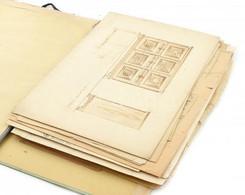 Ismeretlen Alkotó: Vegyes Bútor Tervrajzok, Cca. 1910-20. Kopott, Sérült. Cca.: 54x39cm - Sin Clasificación