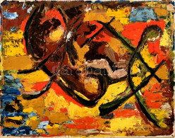 Jelzés Nélkül: Gesztusok. Olaj, Farost. 40×50 Cm - Sin Clasificación