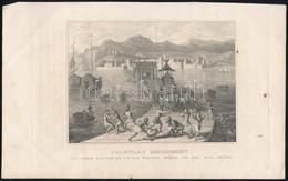 Cca 1850 Puterli Után: Caligulas Gausamkeit Bei Seinem Zug über Die Von Ihm Erbaute Brücke Von Bajä (Caligula Kegyetlenk - Gravure