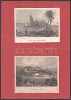11 Db Acélmetszet, Benne 4 Rohbock: Kiszkőszeg, Dévény, Vöröstorony Szoros, Dunai Látkép + 7 Db Vegyes Történelmi Témájú - Gravados
