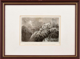 Cca 1860 Ludwig Rohbock (1820-1883)-J. Umnach (?-?): Rozsnyói Vár Erdélyben, (Barcarozsnyó/Rasnov, Rosenau, Rusnâ, Comid - Gravados