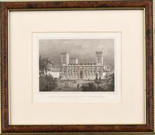 Cca 1860 Ludwig Rohbock (1820-1883) - J(ohann) Poppel (1807-1882): A Pécsi Székesegyház, Acélmetszet, Papír, Paszpartuba - Gravados