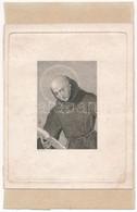 Jaresch Jelzéssel: Olvasó Szent Portréja. Acélmetszet, Papír, Papírra Kasírozva. Jelzett A Metszeten. 9,5×6,5 Cm. - Gravados