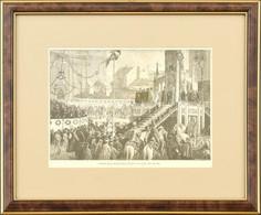 Cca 1870-1900 Morelli Gusztáv (1848-1909): Ferenc József Koronázási Esküje 1867-ben. Fametszet, Papír. Jelzett A Metszet - Gravados