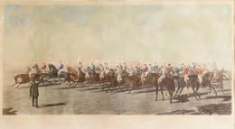 Cca 1860-70 J. Summers Metszése, Ben Herring (1830-1871) Festménye Után: The Silks And Satins Of The Turf (lovassport Me - Gravados