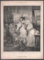 Cca 1840 2 Db Metszet A Les Bals Masques Sorozatból: Les Apprets Du Bal és Le Retour Du Bal Masque. Litográfia, Papír. J - Gravados