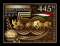 Hungary 2021 Mih. 6217 Equestrian Sport. Driving European Championship In Budapest. Horses MNH ** - Nuovi