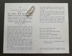 ELISA DE RIDDER ° BORSBEEK 1909 + LIER 1980 / LEONARD VAN LOOY - Devotion Images