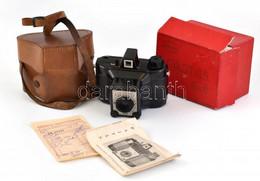 Cca 1962 Gamma Pajtás Fényképezőgép, Achromat 1:8/80 Mm Objektívvel, 6x6 Cm Filmformátum, Eredeti Tokjában, Dobozában, L - Fotoapparate