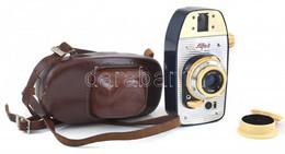 Cca 1965 WZFO Alfa-2 Fényképezőgép, Emitar 45 Mm F/4,5 Objektívvel, Sapkával, Eredeti Bőr Tokjában / Vintage Polish View - Fotoapparate