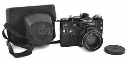 Zenit 11 Fényképezőgép Helios-44M-4 Objektívvel, Eredeti Tokjában - Fotoapparate