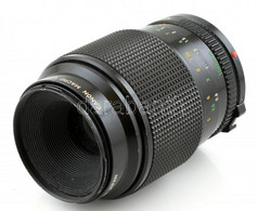 Canon 100mm F/4 Macro FD Makro Objektív, Belül Gombás, Egyébként Szép, Működő állapotban - Fotoapparate