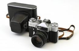 Zenith E Fényképezőgép, Helios 44-2 Objektívvel, Működő, Szép állapotban, Eredeti Bőr Tokjában, - Fotoapparate
