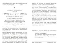 Frans Van Den Borre (1915-1991) - Devotion Images