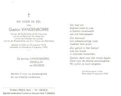 Gaston Vandenborre (1923-1988) - Devotion Images