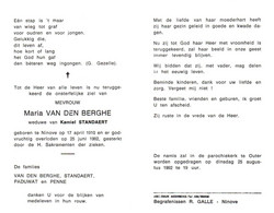 Maria Van Den Berghe (1910-1992) - Devotion Images