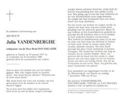 Julia Vandenberghe (1917-1986) - Devotion Images