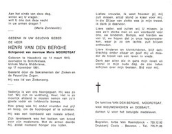Henri Van Den Berghe (1913-1991) - Devotion Images