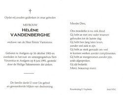 Hélène Vandenberghe (1903-1991) - Devotion Images