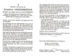 Ernestine Vandenberghe (1905-1991) - Devotion Images