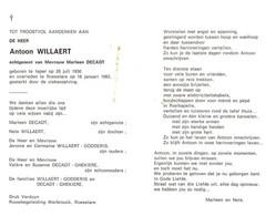 Antoon Willaert (1950-1993) - Devotion Images