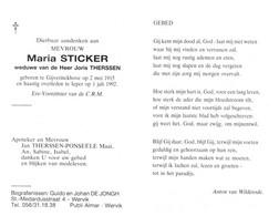 Maria Sticker (1915-1992) - Devotion Images