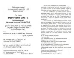 Dominique Soete (1926-1993) - Devotion Images