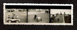 3 Petites Photos Originales - Planche Contact - Coxyde - Cuistax - Combi VW à Pédales - Cuistax Davroux - Automobile