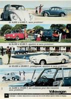 Publicité Papier VOITURE VOLKSWAGEN COCCINELLE KARMANN GHIA Mai 1965 P1030281 - Werbung