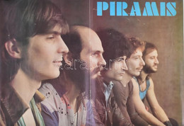 Cca 1980 Piramis, Omega, Fonográf Együttesek Két Oldalas Poszter 33x48 Cm - Unclassified