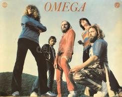 Cca 1960-1970 Omega Együttes Plakátja, Pepita - Interkoncert, Kis Folttal, Kis Kopásnyomokkal, Kis Lyukakkal A Sarkain,  - Unclassified