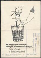 Cca 1976 Zsebtolvajok Ellen Szóló Mini Plakát Humoros Kiegészítésekkel 15x22 Cm - Unclassified