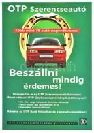 OTP Szerencseautó Plakát, 42×29 Cm - Unclassified