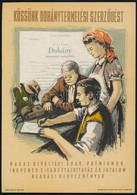 """""""Kössünk Dohánytermelési Szerződést"""" Villamosplakát, 23,5×16,5 Cm - Unclassified"""
