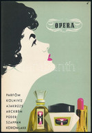 """Opera: Parfőm, Kölnivíz, Ajakrúzs..."" Villamosplakát, Terv Nyomda, 23×16 Cm - Unclassified"