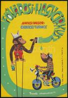 Fővárosi Nagycirkusz - Cirkusz Turmix, Tronda Csimpánz-attrakció, Villamosplakát, 23×16 Cm - Unclassified