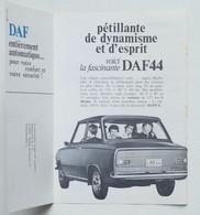 Publicité Voiture Dépliant Daffodil Daf 44 De Luxe Juin 1967  P1010499-P1010500 - Werbung