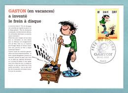 Carte Maximum 2001 - Fête Du Timbre 2001 - Gaston Lagaffe - YT 3370 - Paris - 2000-09