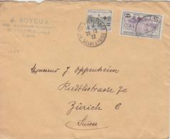 C Lettre Obl Neuilly Plaisance Sur Orphelins De Guerre N° 164, 166 Le 26/12/22 Pour Zürich - Cartas