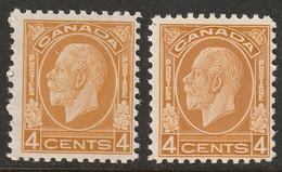 Canada 1932 Sc 198,198i Mi 165 Yt 164 MLH* Ochre & Brownish Ochre Shades - Unused Stamps