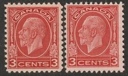 Canada 1932 Sc 197,197c Mi 164 Yt 163 MNH** Both Dies (I & II) - Unused Stamps