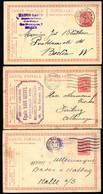 Belgique 3 Cartes Postales SBLP #56 Mi.P70 Bruxelles + Bruges à Allemagne 1920-22 - Postcards [1909-34]